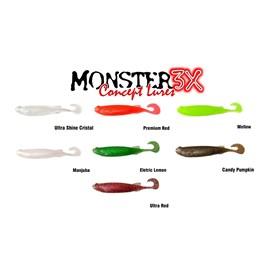 Isca Monster 3X Soft Bass E-Shad 9cm Mellow c/5 un