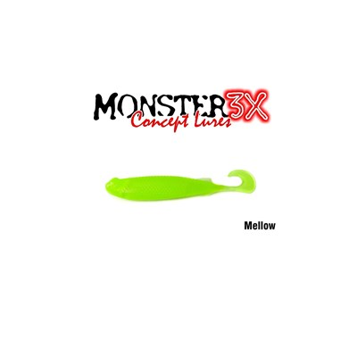 Isca Monster 3X Soft Bass E-Shad 9cm Mellow c/5 un