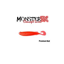 Isca Monster 3X Soft Bass E-Shad 9cm Premium Red c/5 un