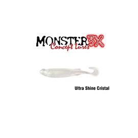 Isca Monster 3X Soft Bass E-Shad 9cm Ultra Shine Cristal c/5 un