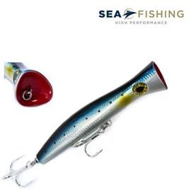 ISCA SEA FISHING SEA HUNTER POPPER 116G 200MM BLUE