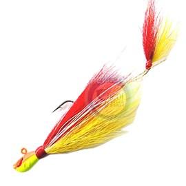 Isca Yara Killer Jig - 17g - 6/0 - Vermelho e Amarelo 042 - C/1 un