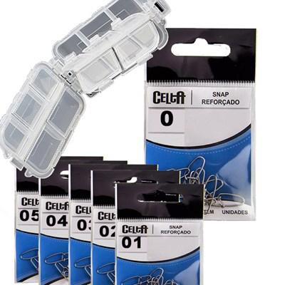Kit Celta CT1009 - 60Un Snap reforçado + Estojo