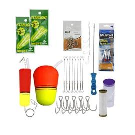"""Kit Completo de Acessórios Pesca de Mar """"Espada""""."""