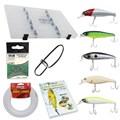 Kit Completo de Iscas Artificiais Aicás (5 Iscas e Acessórios) - Robalo
