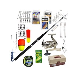 Kit Completo Pesca em Mar - Vara Garra Power - 20-50lb - 2 Part e Mol Marine Sports Elite 5000 - Aces e Brindes