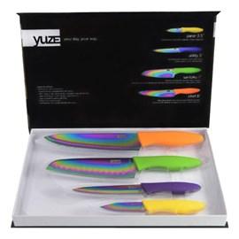 Kit Facas Yuze Titanium Chef 8