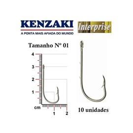 kit kenzaki - Anzol interprise com 120 Uni + Estojo