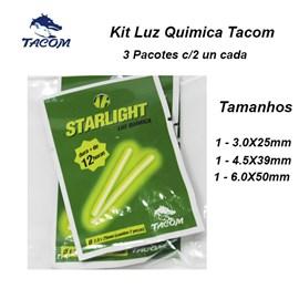KIT LUZ QUIMICA TACOM STARLIGHT - 3 Pct com 2un cada - 3 tamanhos