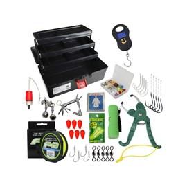 Kit Pesca - Caixa de Pesca Emifran EF-390 - Acessórios e Brinde