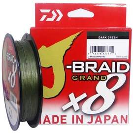 Linha Daiwa J-Braid Grand X8 - 270m - Dark Green