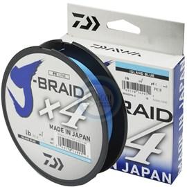 Linha Daiwa J Braid X4 - 20lb (0,21mm) - 135m - Blue