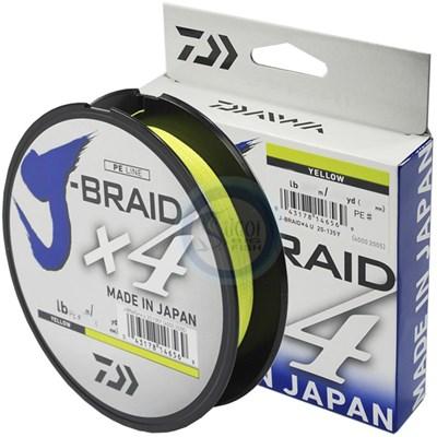 Linha Daiwa J Braid X4 - 20lb (0,21mm) - 270m - Yellow