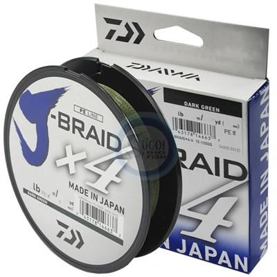 Linha Daiwa J Braid X4 - 30lb (0,25mm) - 135m - Green