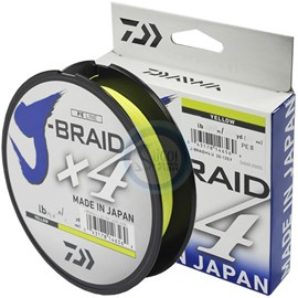 Linha Daiwa J Braid X4 - 30lb (0,25mm) - 270m - Yellow