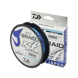 Linha Daiwa J Braid X4 - 40lb (0,29mm) - 270m - Blue