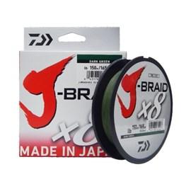 LINHA DAIWA J BRAID X8 0,15MM 10LB 150M GREEN