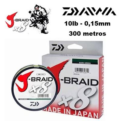 LINHA DAIWA J BRAID X8 - 300M DARK GREEN