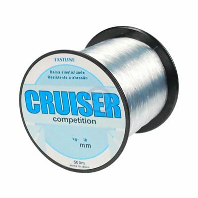 Linha Fastline Cruiser Competition 0,43mm 35lb (16,8kg) 500m Monofilamento Fumê