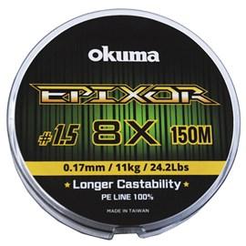 Linha Okuma Epixor 8X 1,5 0,17MM 150MT