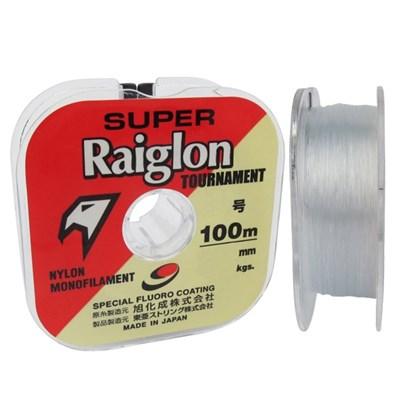 Linha Super Raiglon Tour Branca - 0,52mm - Nylon Fluor Coating - C/ 100m