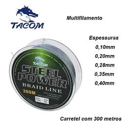 LINHA TACOM MULTIFILAMENTO STEEL POWER - C/ 300M