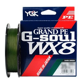 Linha YGK G-Soul WX8 PE 6 (0,41mm /80lb) 300m