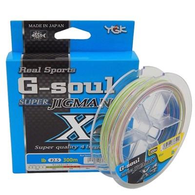 Linha YGK Real Sports G-Soul Super Jig Man X4 PE 2 (30lb) 300m