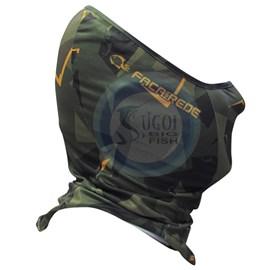 Máscara de Proteção Solar Faca na Rede - Black Neck  - Camuflage