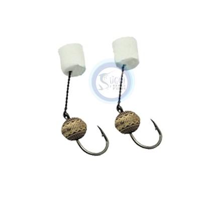 Mini Encastoado Barao 46 - Anzol Chinu - EVA Miçanga Jade Branca - C/2 un
