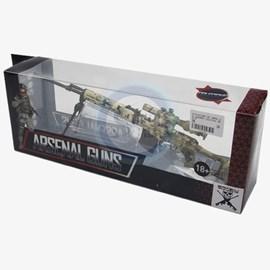 Miniatura Brasil Equipamentos Arsenal Guns - 31cm - Fuzil Dragunov SVD