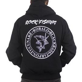 Moletom Rock Fishing Ramones C/ Ziper Preto P