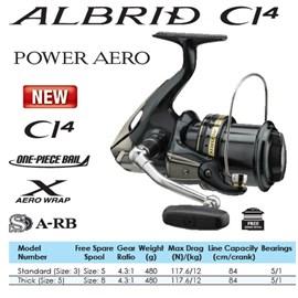 Molinete Shimano Power Aero Albrid CI4 S-RB SA42B
