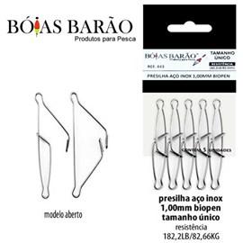 PRESILHA BARAO INOX 1,00MM 443 C/5