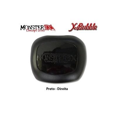 PROTETOR DE CARRETILHA MONSTER 3X - X-BUBBLE - Preto (Direita)