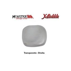 PROTETOR DE CARRETILHA MONSTER 3X - X-BUBBLE - Transpatente (Direita)