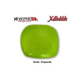 PROTETOR DE CARRETILHA MONSTER 3X - X-BUBBLE - Verde (Esquerda)
