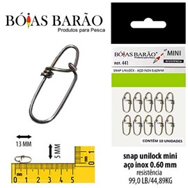 SNAP BARAO UNILOCK 441 0,60MM 99,0LB C/10
