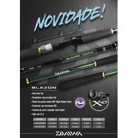 "Vara Daiwa BLAZON 802HFB-BR 8'0""(2,40m) 20-50lb (Carretilha) 2 Partes"