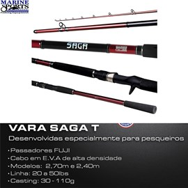 VARA MARINE SPORTS SAGA CARRET SGT -  20-50LB