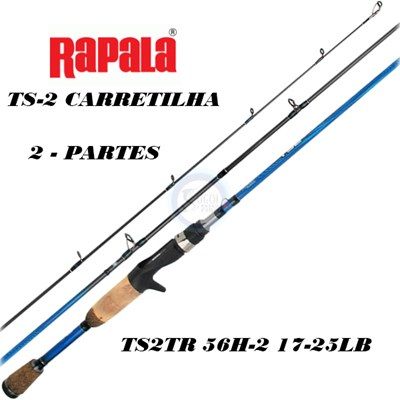 VARA RAPALA TS2 CARRETILHA TS2TR 56 - 2 PARTES
