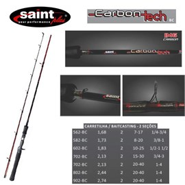 VARA SAINT CARBON TECH - CARRETILHA - 2 PARTES