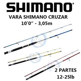 """Vara Shimano Cruzar 10"""" 12-25lb Azul 21002 (Molinete) 2 Partes"""