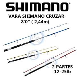 """Vara Shimano Cruzar 8'0"""" (2,44m) 12-25lb (Molinete)"""