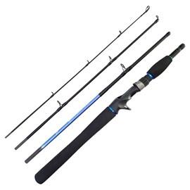 Vara Tacom Quick Retro QRT-C 564M 5'6''(1,68m) 10-20lb Azul (Carretilha) 4 Partes