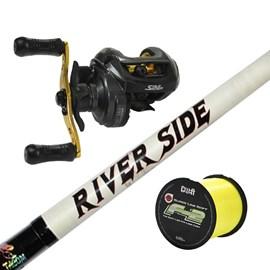 Vara Tacom River Side 6'6''(1,98m) 25lb (2P) + Carretilha Star River Sephia (Direita) + Brinde